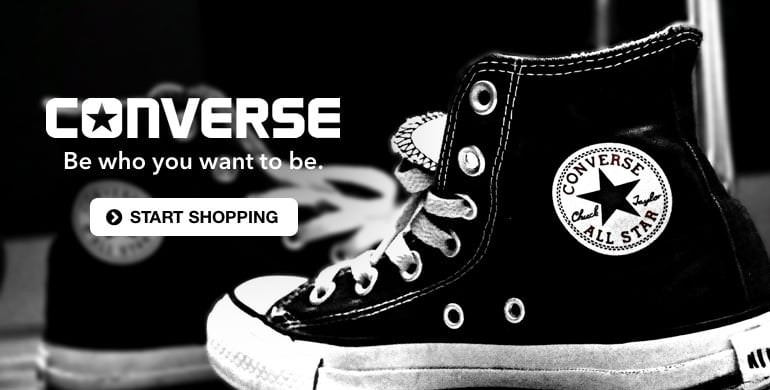 Converse - Be who you want to be. Start Shopping.