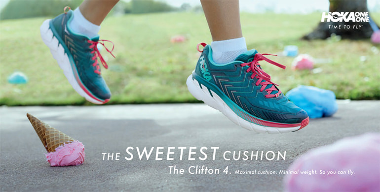 The sweetest cushion. The Clifton 4. Maximal cushion. minimal weight so you can fly