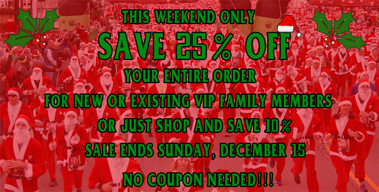 This weekend only. Save 25% off.