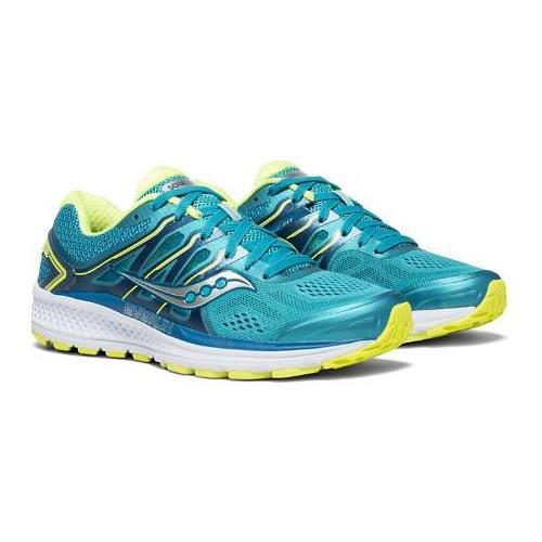 Saucony Omni 16 Women's Running Shoe Teal Citron S10370-4