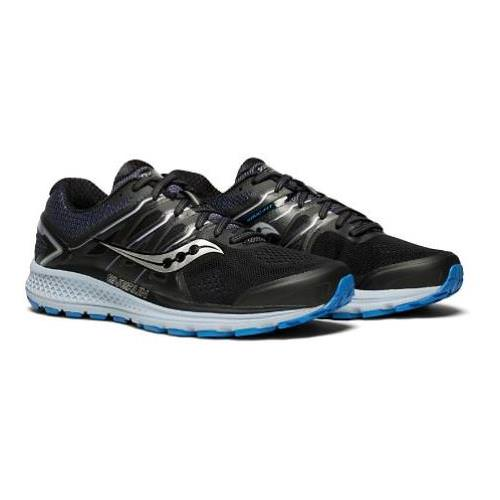 Saucony Omni 16 Men's Running Shoe Black Grey Blue S20370-4