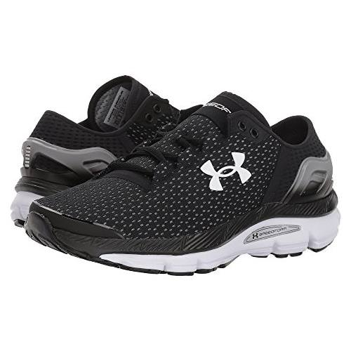 reputable site d8769 1f7df Under Armour Speedform Intake 2 Womens Running Shoe in Black, Steel, White  3000290-002