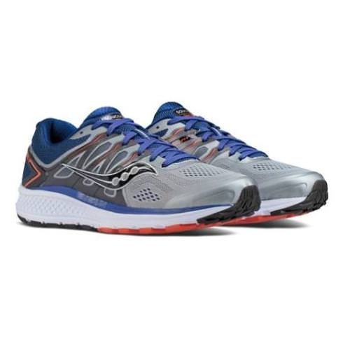 Saucony Omni 16 Men's Running Shoe Wide EE Grey Navy Orange S20371-1