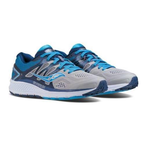 Saucony Omni 16 Women's Wide D Running Shoe Grey Blue S10371-1