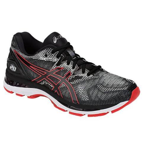 watch b142b 83b16 Asics Gel Nimbus 20 Men s Running Shoe Black, Red Alert T800N 002