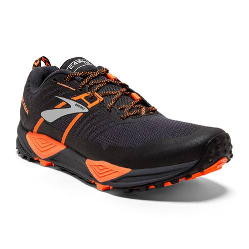 Brooks Cascadia 13 Men's Running Grey Black Orange 1102851D026