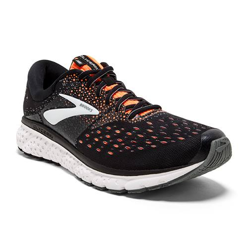 Brooks Glycerin 16 Men's Running Black Orange Grey 1102891D069