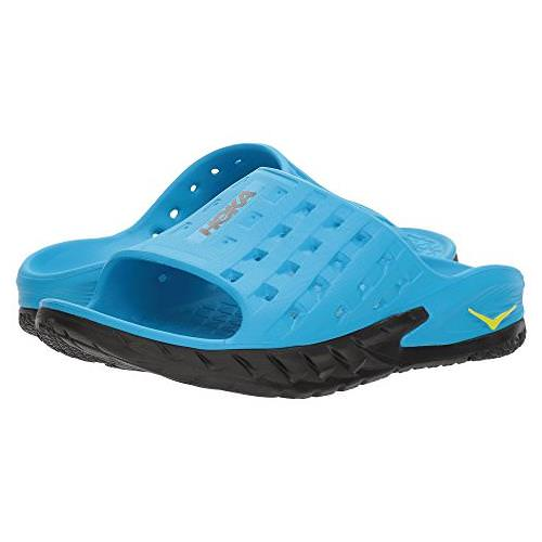 Hoka One One Ora Recovery Slide Mens Black Process Blue 1014864 BPSB