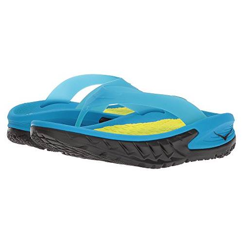 Hoka One One Ora Recovery Flip Womens Black Process Blue 1018353 BPSB