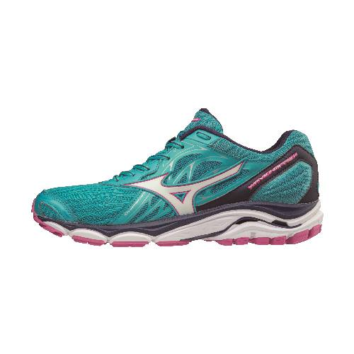 Mizuno Wave Inspire 14 Women's Running Shoes Peacock Blue Fuchsia Purple 410985.5C6X