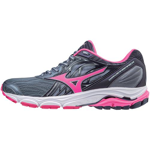 Mizuno Wave Inspire 14 Women's Running Shoes Folkstone Gray Pink Glow 410985.9F1Q