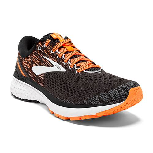 Brooks Ghost 11 Men's Running Black Silver Orange 1102881D093
