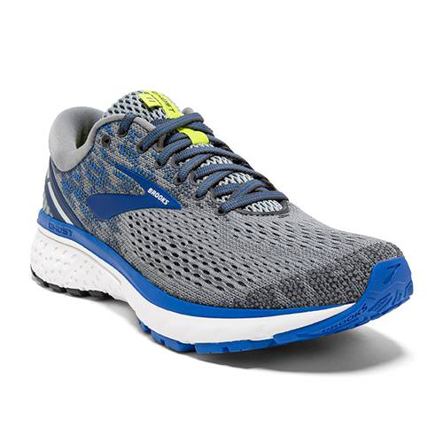 Brooks Ghost 11 Men's Running Wide 4E Grey Blue Silver 1102884E006