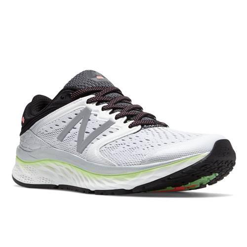 New Balance Fresh Foam 1080v8 Women's Running Shoe White Lime Glo Black W1080WB8
