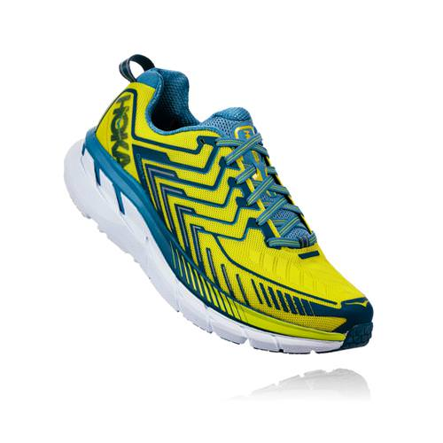 super popular ea977 7f3c1 Hoka One One Clifton 4 Men s Sulphur Spring, Midnight 1016723 SSMD