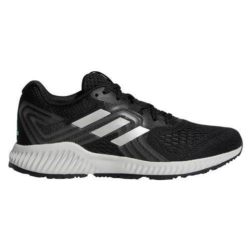 Adidas Aerobounce 2 Women's Running Shoe Cloud Black Silver Metallic Grey AQ0542