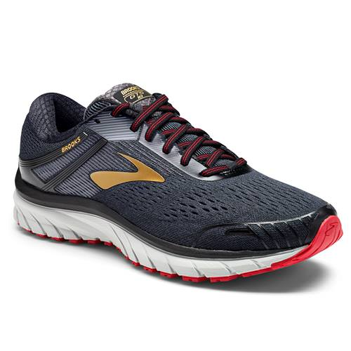 Brooks Adrenaline GTS 18 Men's Running Wide EE Black Gold Red 1102712E068