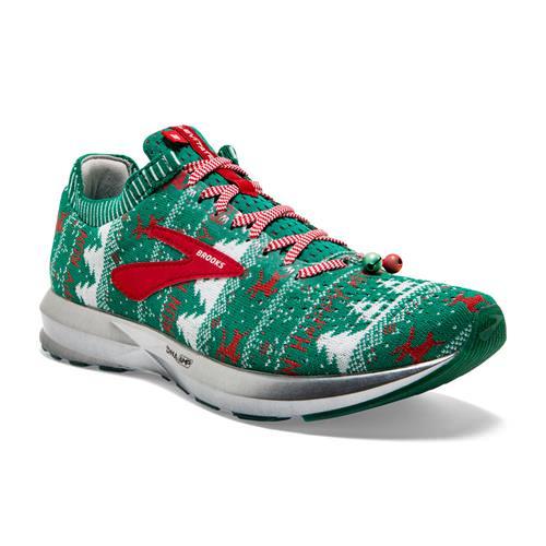 Brooks Levitate 2 Women's Ugly Christmas Sweater Running Green White Red 1202791B322