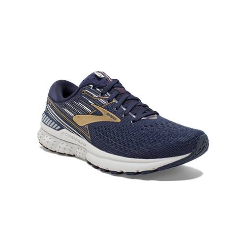 Brooks Adrenaline GTS 19 Men's Running Wide 2E Navy Gold Grey 1102942E439