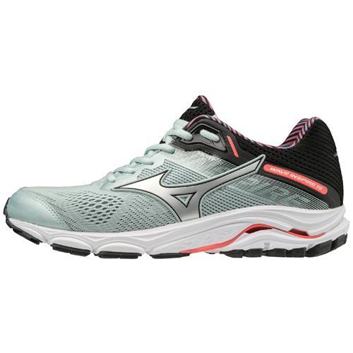 Mizuno Wave Inspire 15 Women's Running Shoes WIDE D Sky Gray Silver 411053.9Q73