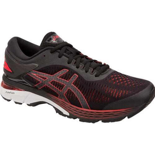Asics Gel Kayano 25 Men's Running Shoe Black Classic Red 1011A019 004