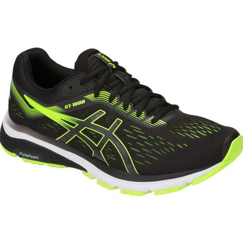 limited style big selection diversified in packaging Asics GT-1000 7 Men's Running Shoe Black, Hazard Green 1011A042 004