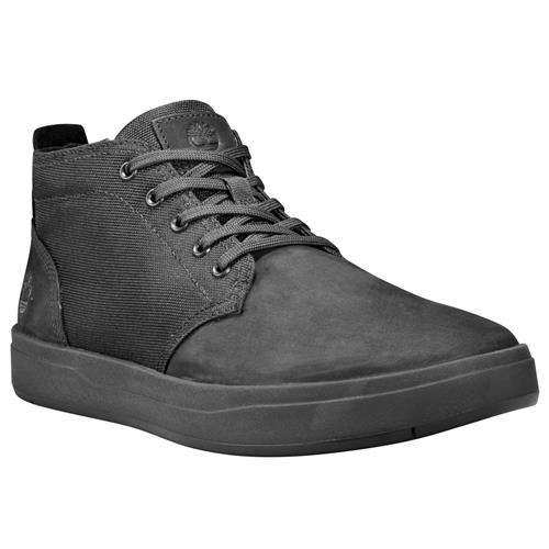 Timberland Davis Square Leather And Fabric Chukka Blackout Nubuck TB0A1T16