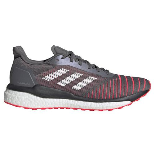Adidas Solar Drive Men's Running Shoes Grey Four Cloud White Shock Red D97450