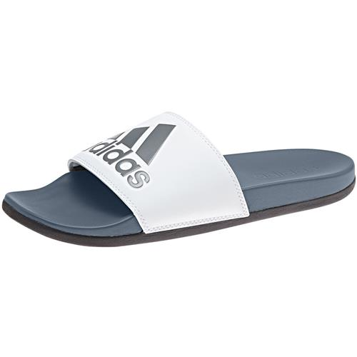 Adidas Adilette Comfort Slides Mens in Raw Steel White Black AC8412