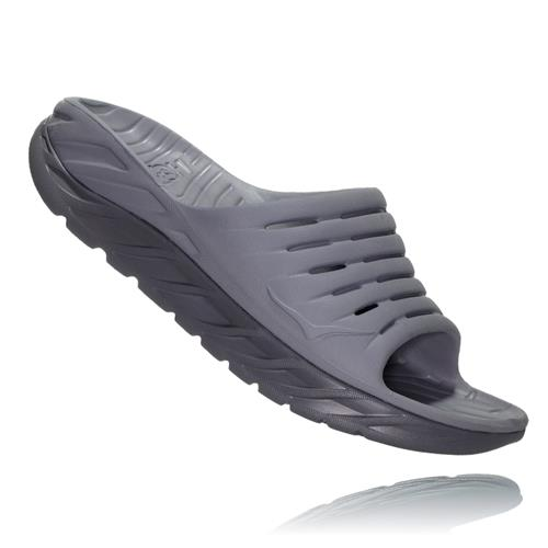 Hoka One One Ora Recovery Slide Mens Frost Gray Dark Gull Gray 1099673 FGDGG