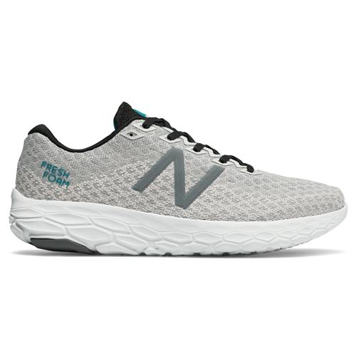eb2330c767b05 New Balance Fresh Foam Beacon Men's Running Shoe Arctic Fox, Deep Ozone  Blue, Black MBECNGS