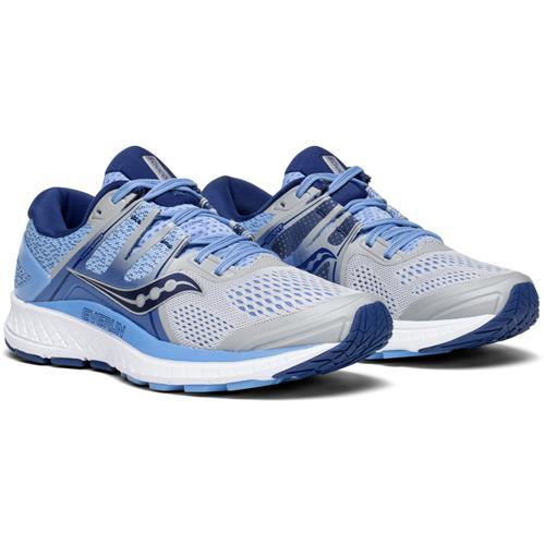 Saucony Omni ISO Women's Wide D Running Shoe Silver Blue Navy S10443-1