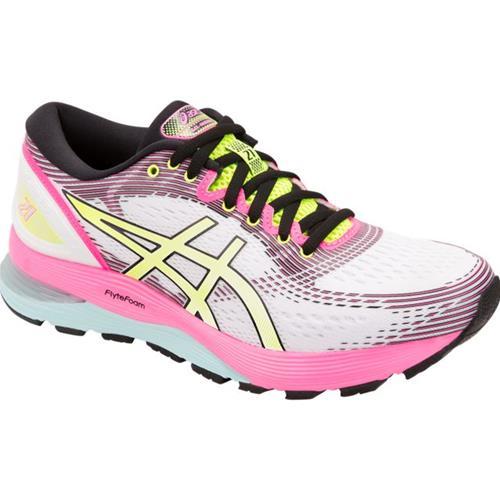 Conception innovante c9421 17478 Asics Gel Nimbus 21 SP Women's Running Shoe White, White 1012A502 100