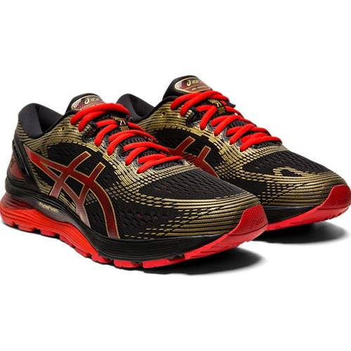 Asics Gel Nimbus 21 Mugen Men's Running Shoe Black, Classic Red 1011A257 001