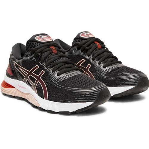 2d68cf6fc4 Asics Gel Nimbus 21 Women's Running Shoe Black, Laser Pink 1012A156 002