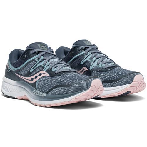 Saucony Omni ISO 2 Women's Wide D Running Shoe Grey Pink S10512-1