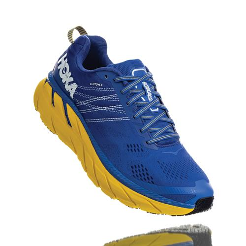 Hoka One One Clifton 6 Men's Nebulas Blue Lemon 1102872 NBLM