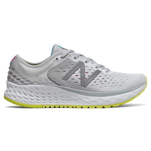 New Balance Fresh Foam 1080v9 Women's Running Shoe Light Aluminum Silver Sulphur Yellow W1080SO9