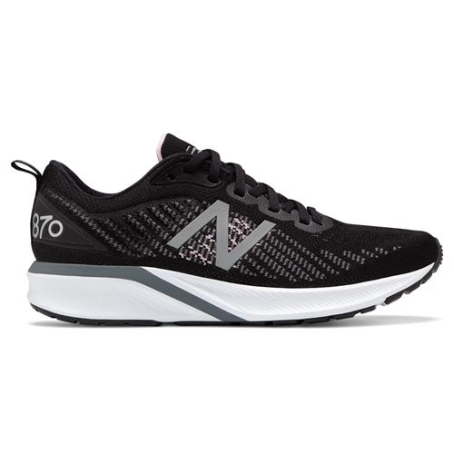 New Balance 870v5 Women's Wide D Running Shoe Black White Oxygen Pink W870BW5D