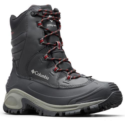 Columbia Bugaboot III Waterproof Men's Winter Boots Black Bright Red 1791221 010