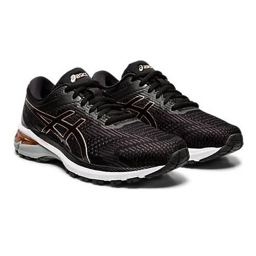 Asics GT-2000 8 Women's Running Wide D Shoe Black Rose Gold 1012A592 002