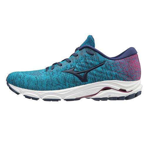 Mizuno Wave Inspire 16 Waveknit Women's Running Shoe Enamel Blue-Medieval Blue 411171.EBME