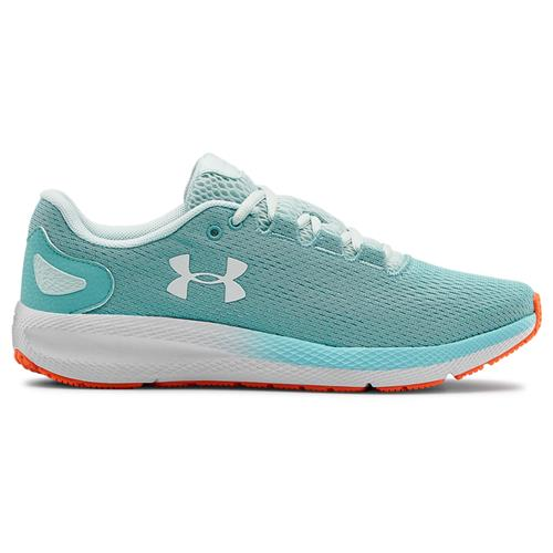 Under Armour Charged Pursuit 2 Womens Running Shoe in Blue Haze White 3022604-400