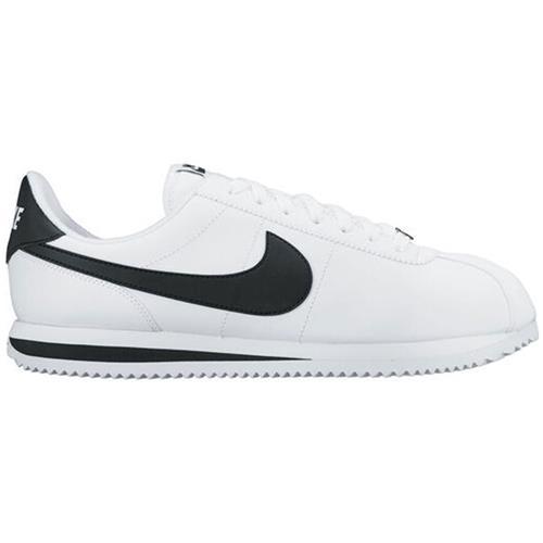 Nike Cortez Basic Leather Men's Casual Shoe White Black 819719-100