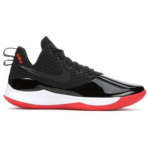 Nike Lebron Witness III PRM Men's Basketball Black White Red BQ9819-001