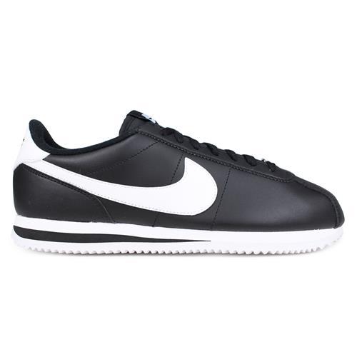 Nike Cortez Basic Leather Men's Casual Shoe Black White 819719-012