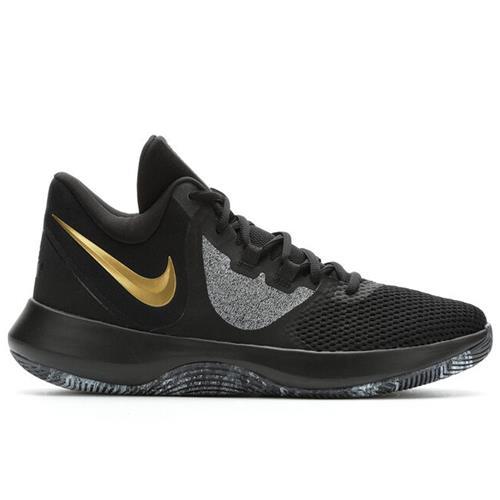 Nike Air Precision II Men's Basketball Black Gold Grey AA7069-090