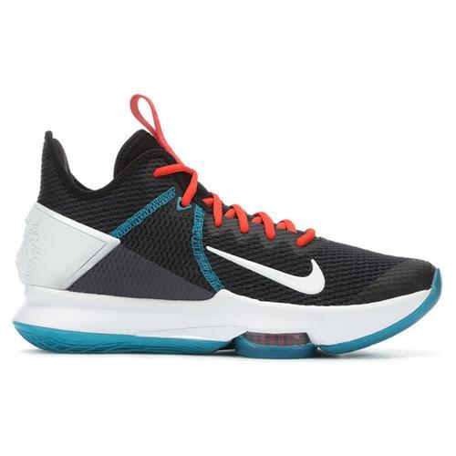 Nike Lebron Witness IV Men's Basketball Black White Chile Red Glass Blue BV7427-005