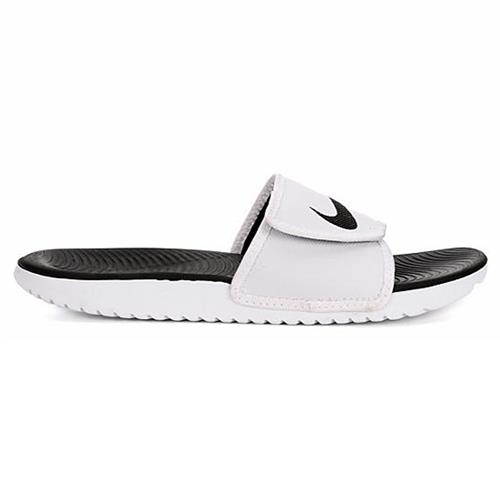 Nike Kawa Mens Adjustable Slide White Black 834818-101