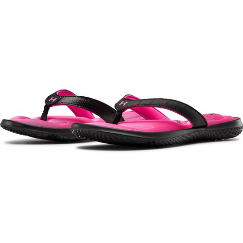 Under Armour Women's Marbella VII Sandals Black Pink Surge 3022723-002